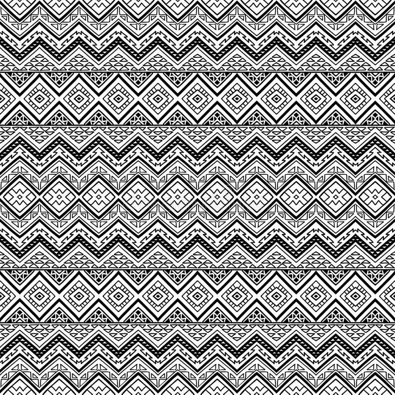 Nahtloses aztekisches Muster lizenzfreie stockfotografie
