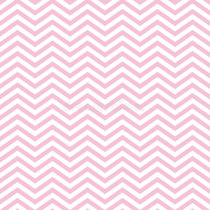 Nahtloses Baby-Muster Zig Zag s mit rosa Chevron vektor abbildung