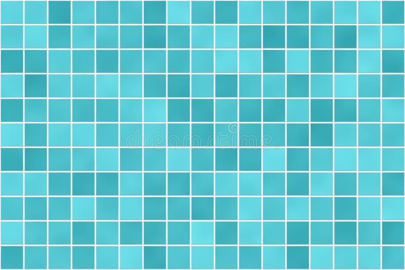 Nahtloses Badezimmer deckt Mosaikbeschaffenheit mit Ziegeln lizenzfreie abbildung