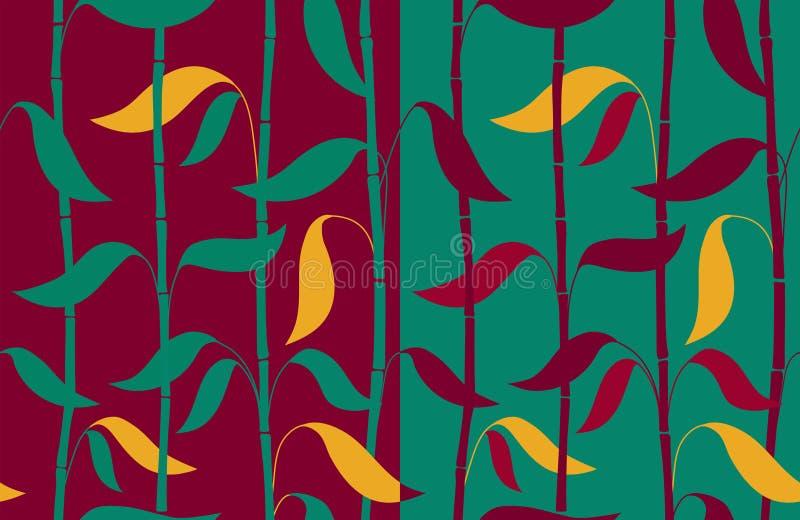Nahtloses Bambusmuster stock abbildung