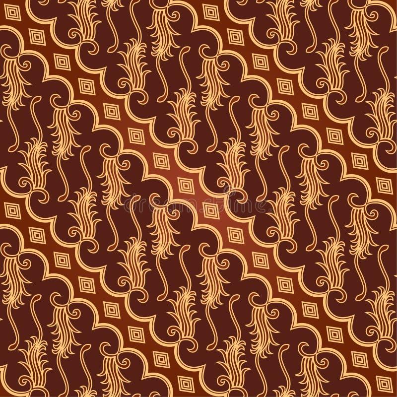 Nahtloses Batik Parang Barong Muster stock abbildung