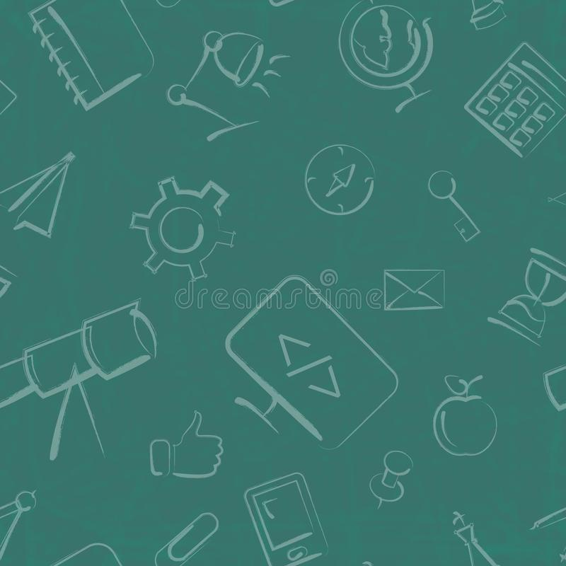 Nahtloses Bildungs- und Geschäftsvektorhintergrundmuster lizenzfreie abbildung