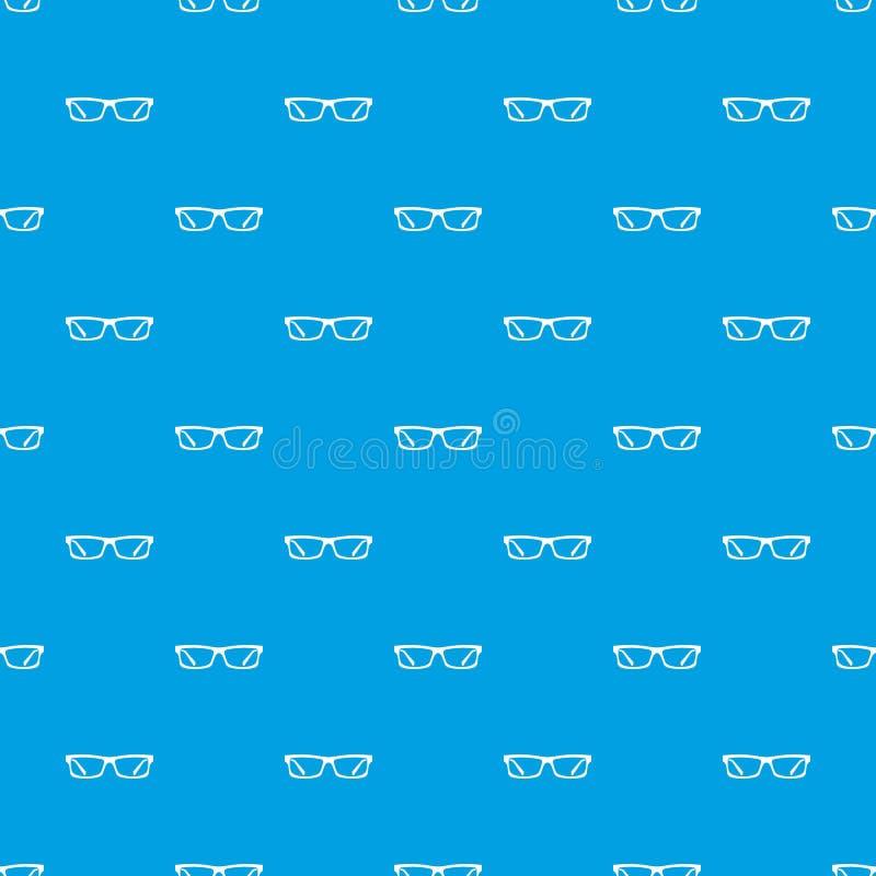 Nahtloses Blau des Augenglas-Musters lizenzfreie abbildung