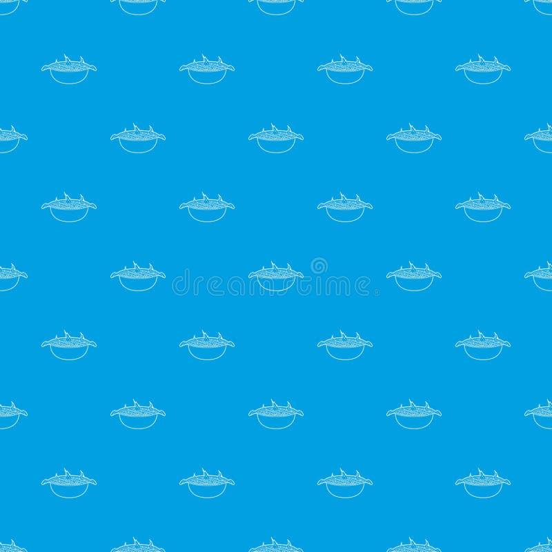 Nahtloses Blau des Grillmusters stock abbildung