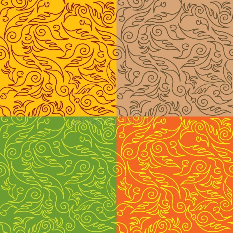 Download Nahtloses Blumenmuster vektor abbildung. Illustration von auslegung - 26368249
