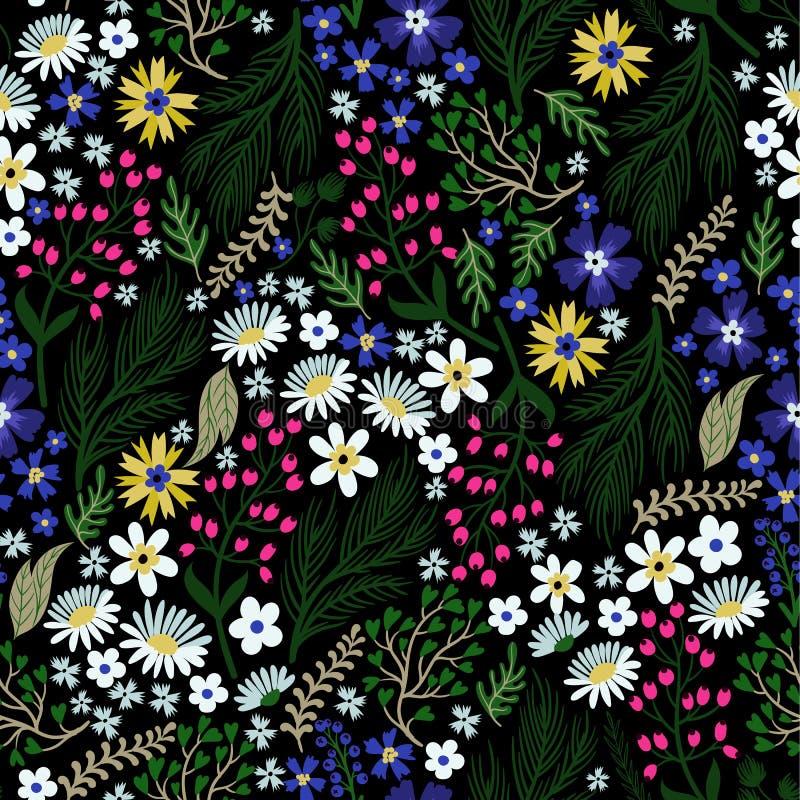 Nahtloses Blumenmuster mit netten kleinen ditsy Blumen Auch im corel abgehobenen Betrag stock abbildung
