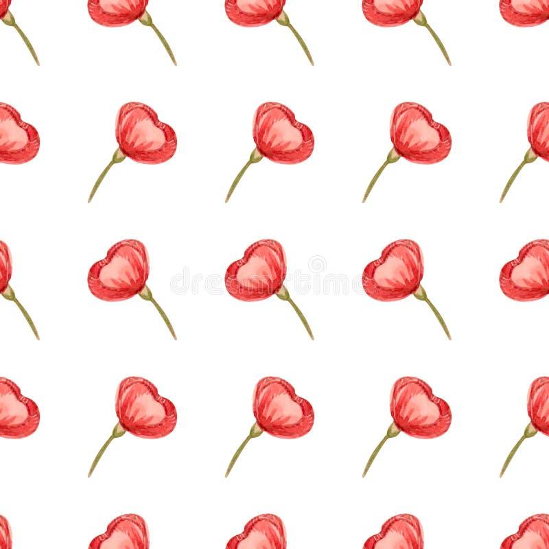Nahtloses Blumenmuster mit weicher rosa Blüte kann für Textildrucken, Anzeige, Hintergrund, Tapete benutzt werden lizenzfreie abbildung