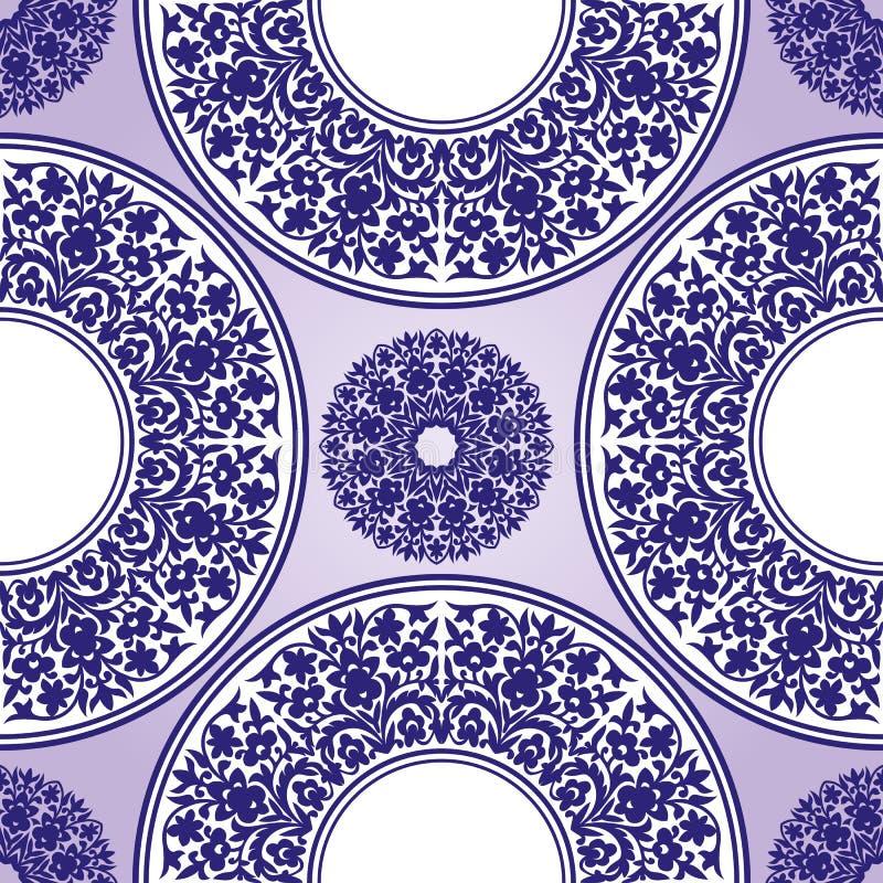 Nahtloses Blumenmuster Orientalische Verzierung Element für Entwurf stock abbildung