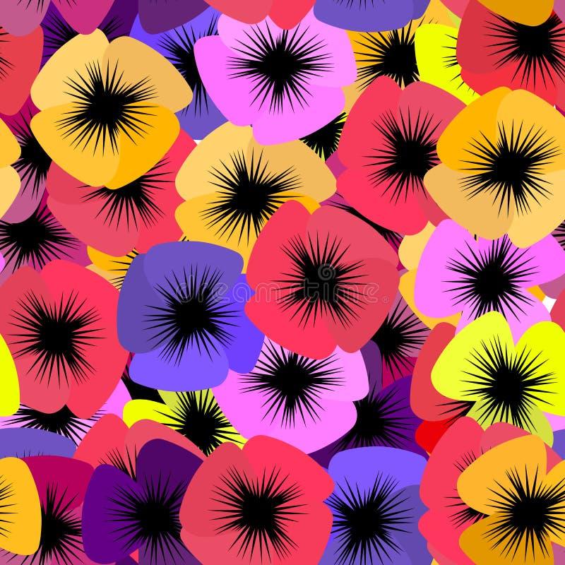 Nahtloses Blumenstiefmütterchen Pano lizenzfreie stockfotos