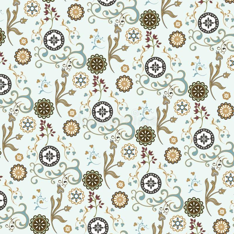 Nahtloses Blumentapetenmuster lizenzfreie abbildung