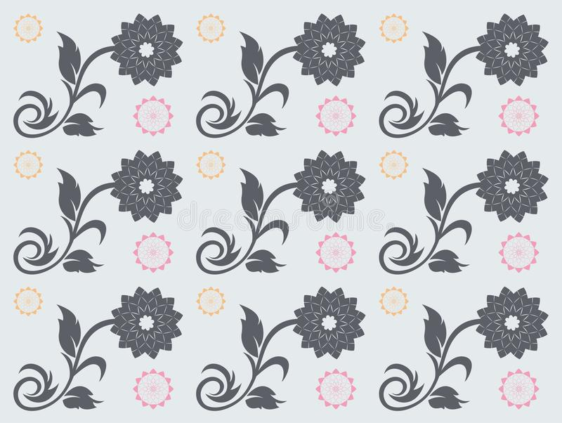 Nahtloses Blumenvektormuster lizenzfreie stockfotografie