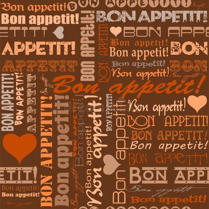 Nahtloses Bon appetit! Muster vektor abbildung
