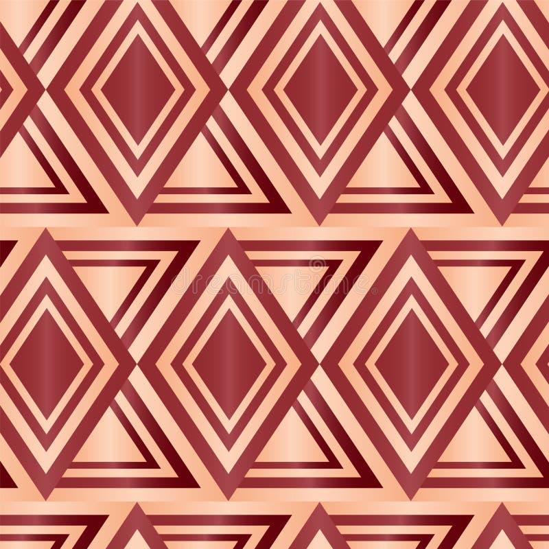 Nahtloses Brown Diamond Geometric Abstract Background vektor abbildung