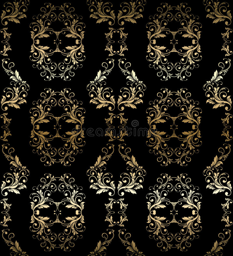 Nahtloses Damastmuster der abstrakten Weinlese vektor abbildung
