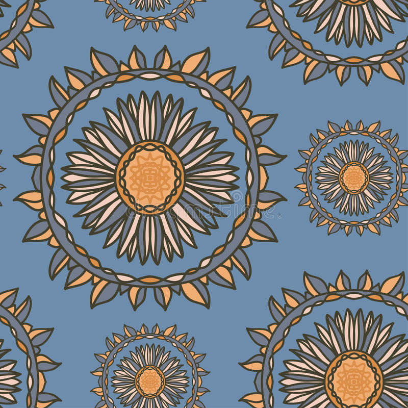 Nahtloses dekoratives Blumenmuster lizenzfreie abbildung