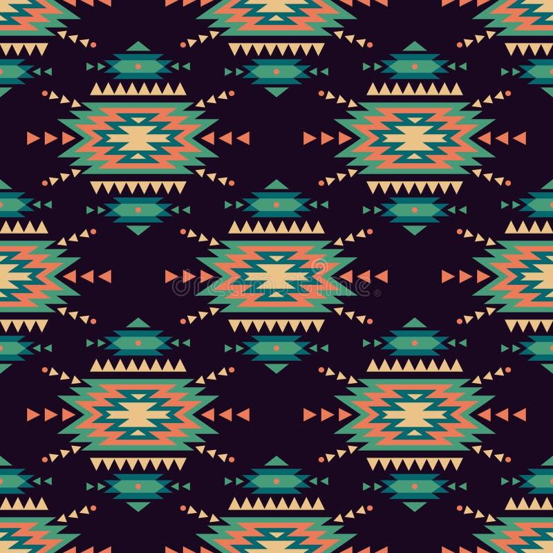 Nahtloses dekoratives ethnisches Muster des Vektors Indianische Motive vektor abbildung
