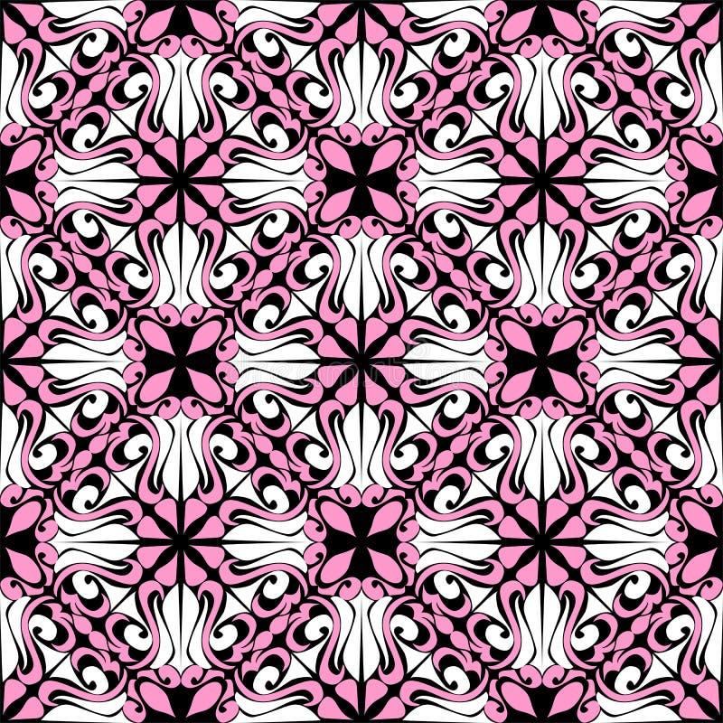 Nahtloses dekoratives Muster - Kombination Farben lizenzfreie abbildung