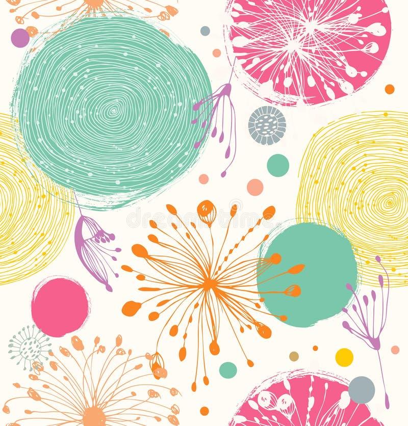 Nahtloses dekoratives Muster mit abstrakten Details vektor abbildung