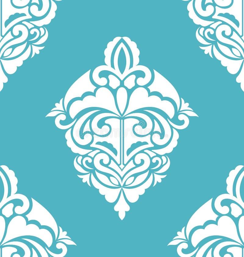 Nahtloses dekoratives Muster Weinlese-Luxus-Beschaffenheit stock abbildung