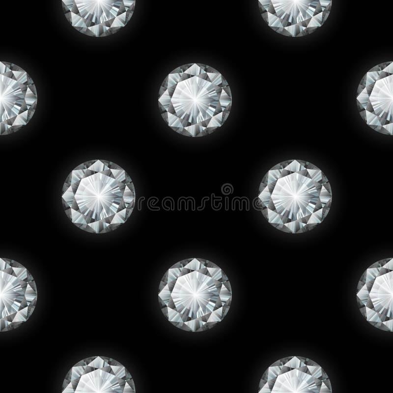 Nahtloses Diamantmuster Auch im corel abgehobenen Betrag lizenzfreie stockfotografie