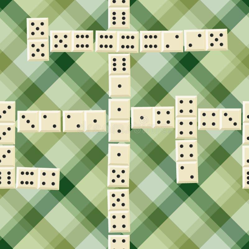 Nahtloses Dominomuster stock abbildung