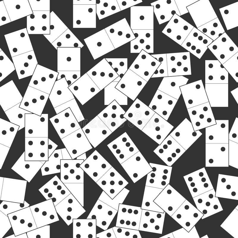 Nahtloses Dominoschwarzweiss-muster vektor abbildung