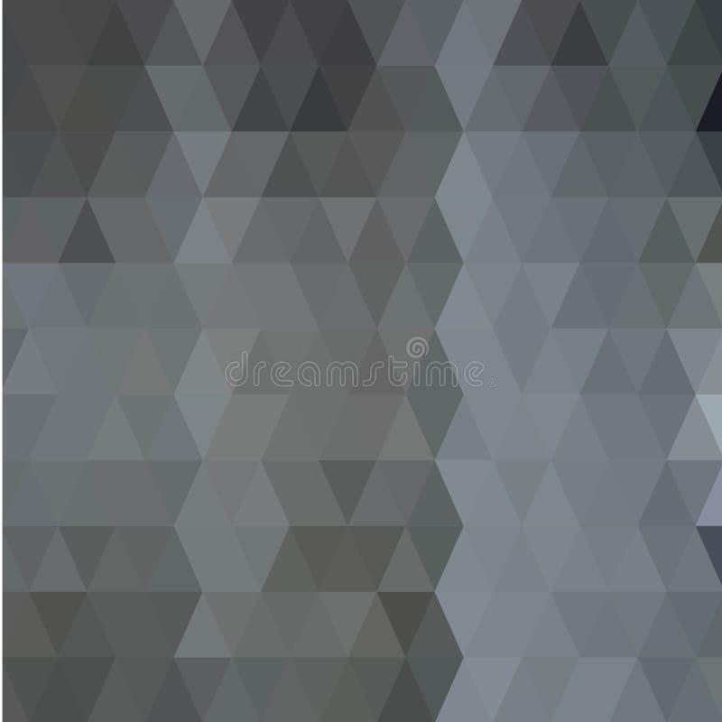 Nahtloses Dreieck-Muster Abstrakte geometrische Tapete der Oberfläche Netter mit Ziegeln gedeckter Hintergrund Druck für polygrap stock abbildung