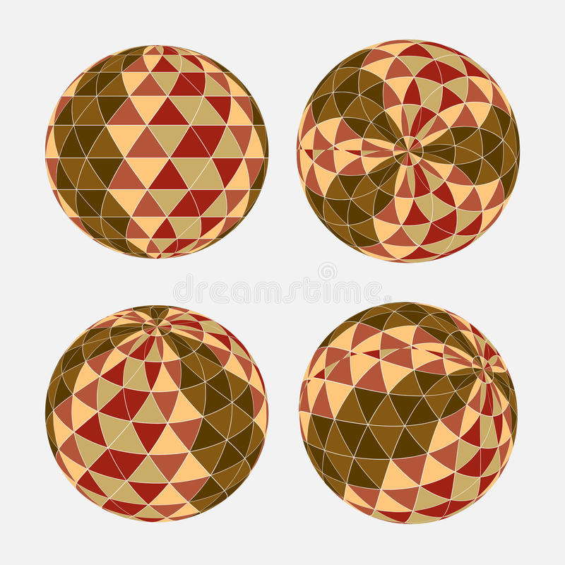 Nahtloses Dreieckmuster in der Kreisform Es kann für Leistung der Planungsarbeit notwendig sein lizenzfreies stockfoto