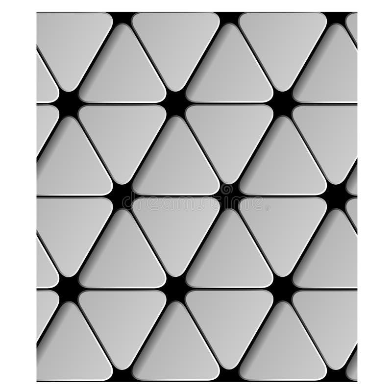 Nahtloses Dreieckpapiermuster vektor abbildung
