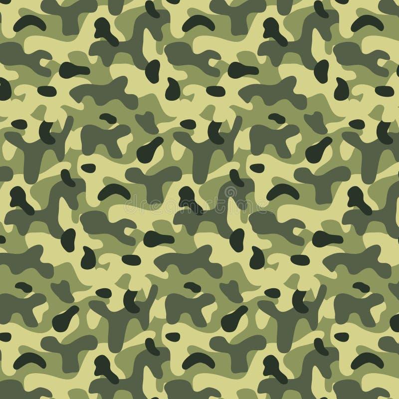Nahtloses editable Militärmuster mit Tarnung lizenzfreie abbildung