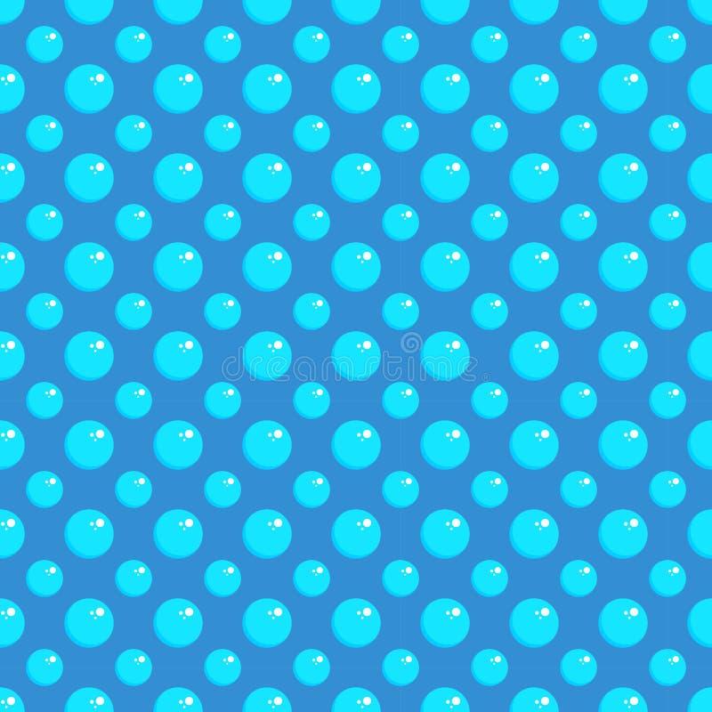 Nahtloses/einfaches blaues Blasenmuster Tileable vektor abbildung