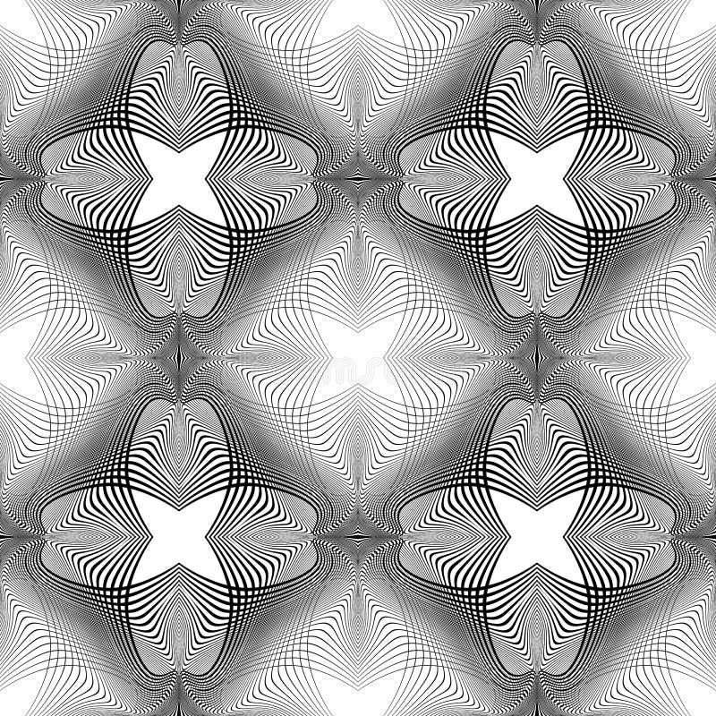 Download Nahtloses Einfarbiges Blumenmuster Des Designs Vektor Abbildung - Illustration von deform, einfarbig: 106804612