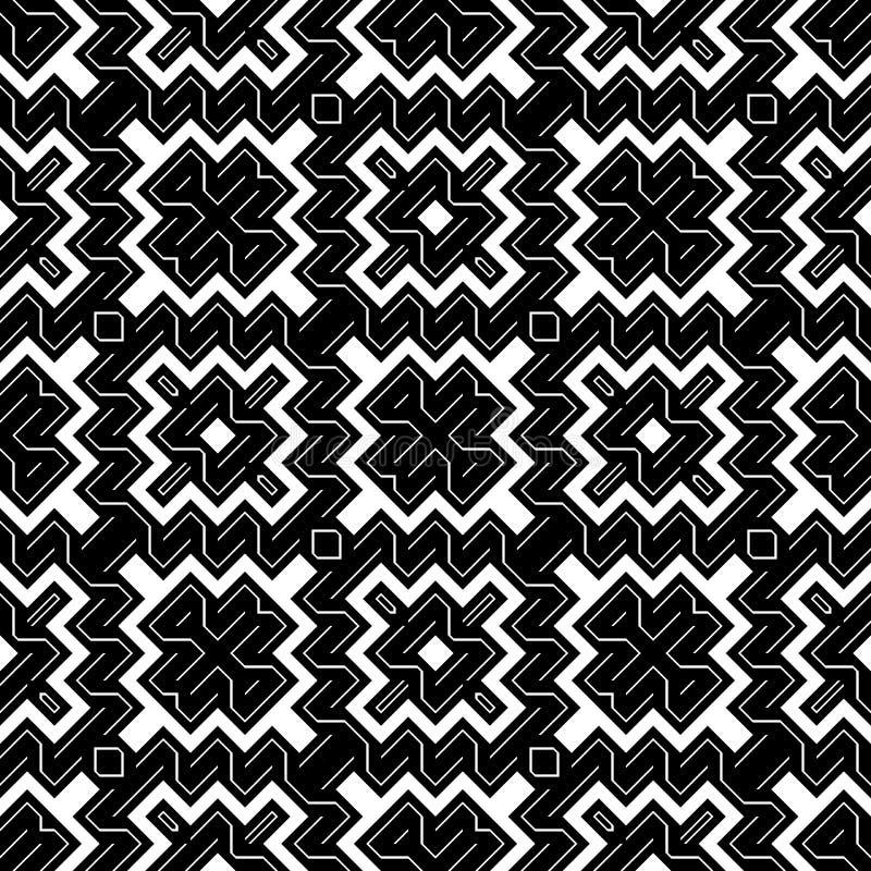 Nahtloses einfarbiges geometrisches Muster des Entwurfs vektor abbildung