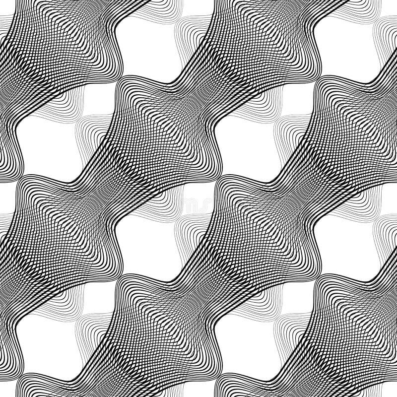 Download Nahtloses Einfarbiges Muster Des Entwurfs Vektor Abbildung - Illustration von modern, stripy: 106804715