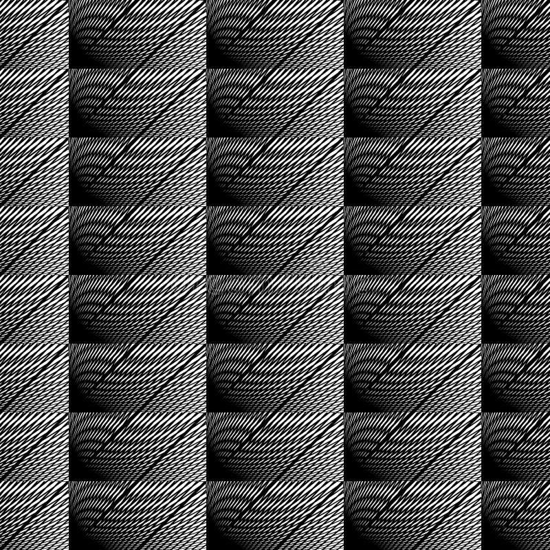Nahtloses einfarbiges Schachbrettmuster des Designs lizenzfreie abbildung