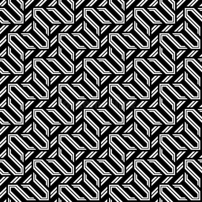 Nahtloses einfarbiges Zickzackmuster des Designs vektor abbildung