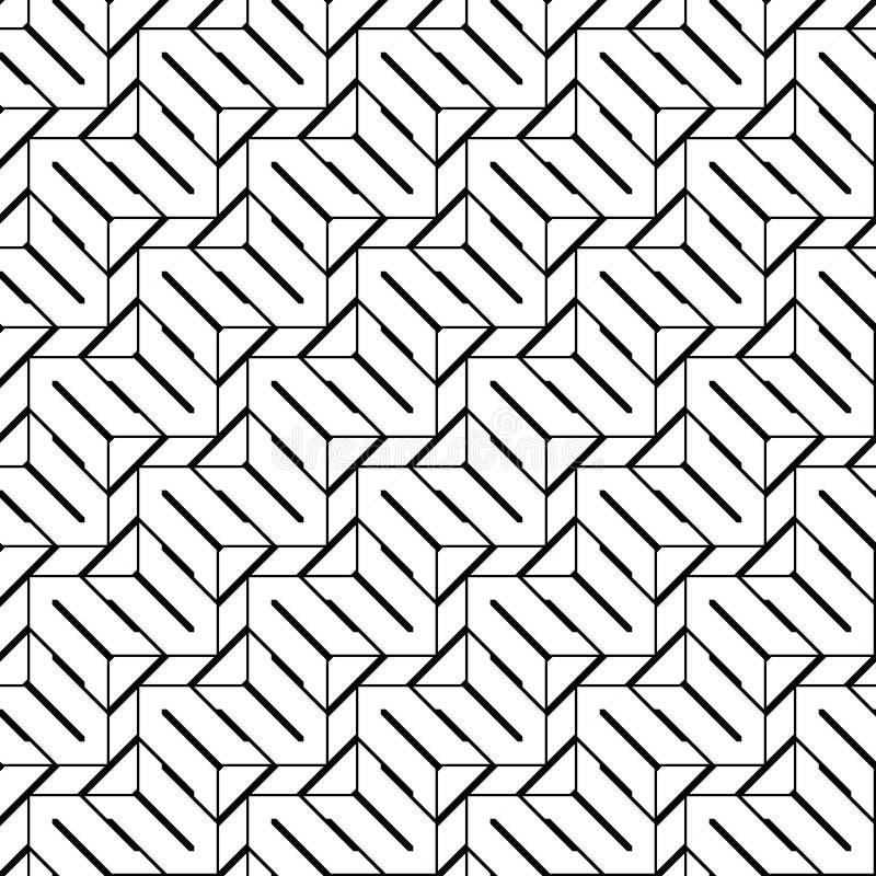 Nahtloses einfarbiges Zickzackmuster des Designs stock abbildung