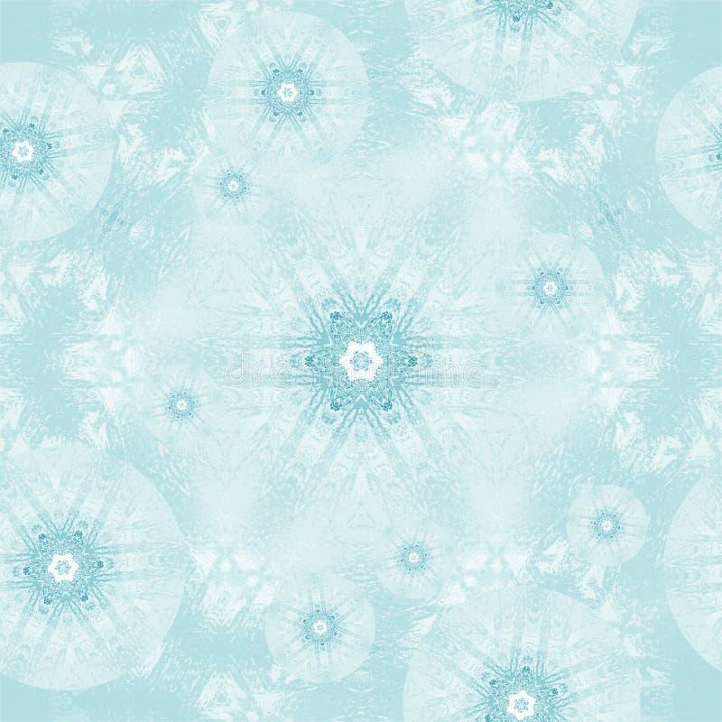 Nahtloses Eisblumetürkisweiß stock abbildung