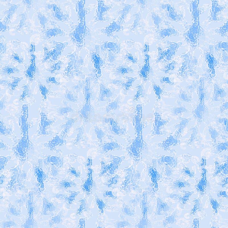 Nahtloses eisiges Muster, Schneeflocken wir Glasillustration lizenzfreie abbildung