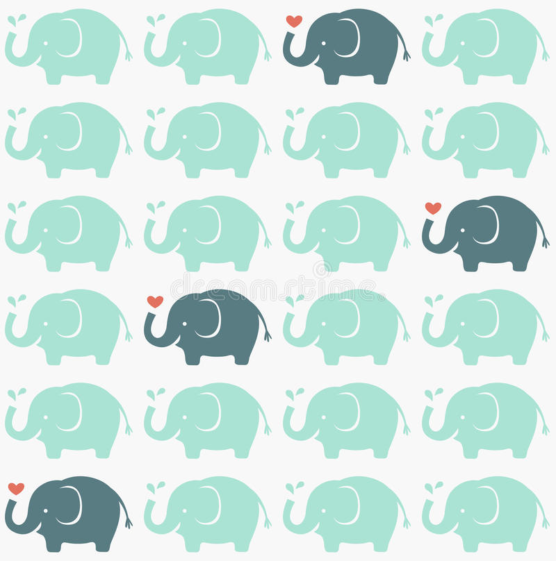Nahtloses Elefantgewebemuster stock abbildung