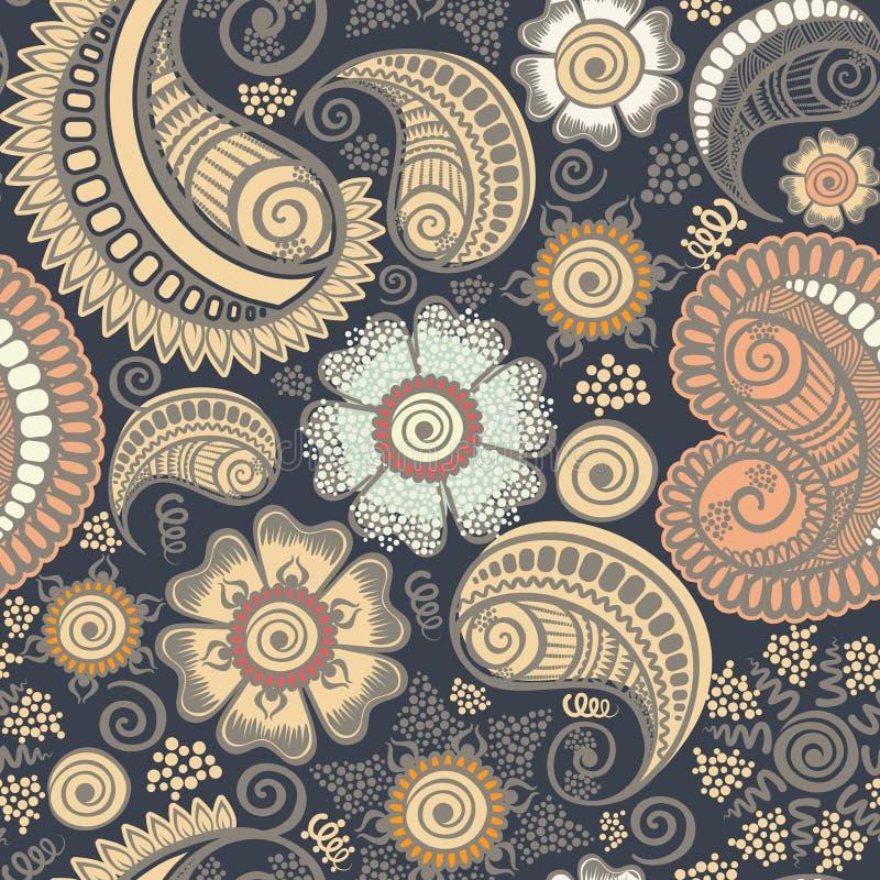 Nahtloses elegantes Paisley-Muster stock abbildung