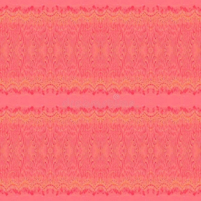 Nahtloses empfindliches rotes Gelb des gewellten Profils horizontal lizenzfreie abbildung
