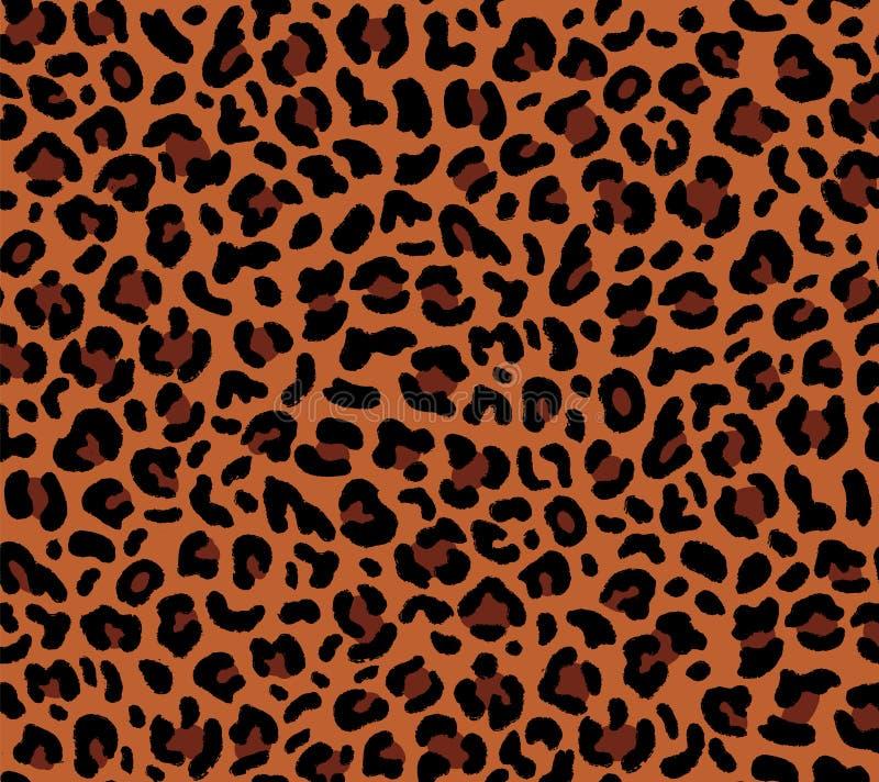 Nahtloses eopard Muster stock abbildung