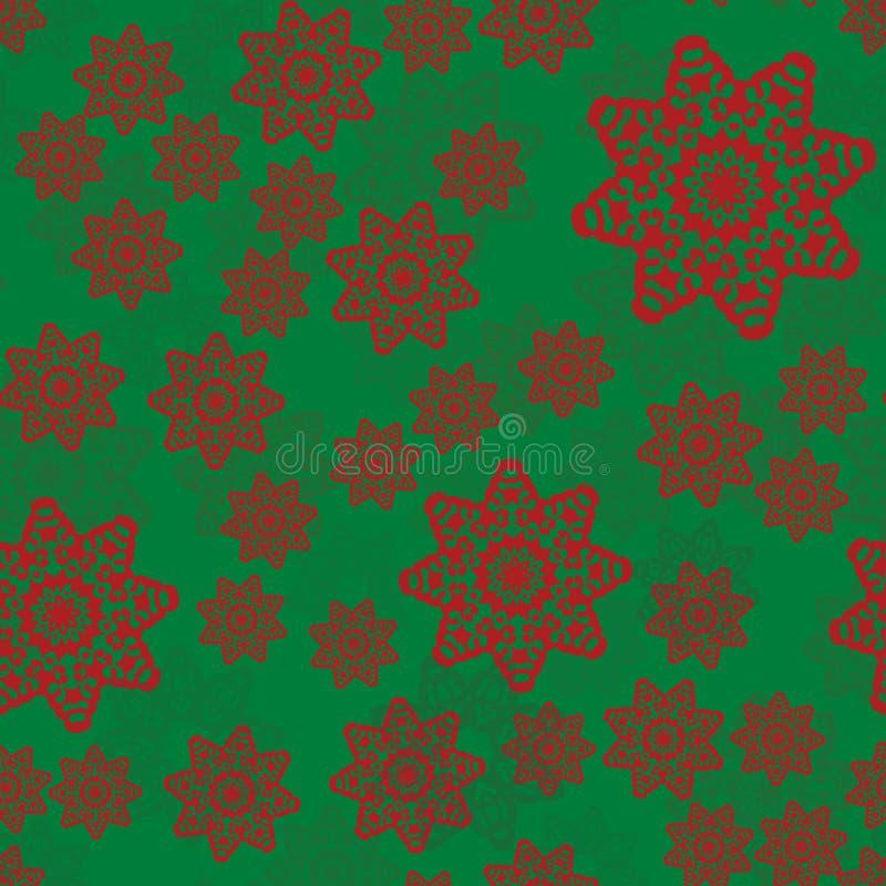 Nahtloses ethnisches Muster mit Blumenmotiven Stilisierte Druckschablone der Mandala für Gewebe oder verwerfendes Papier Boho ver lizenzfreie abbildung