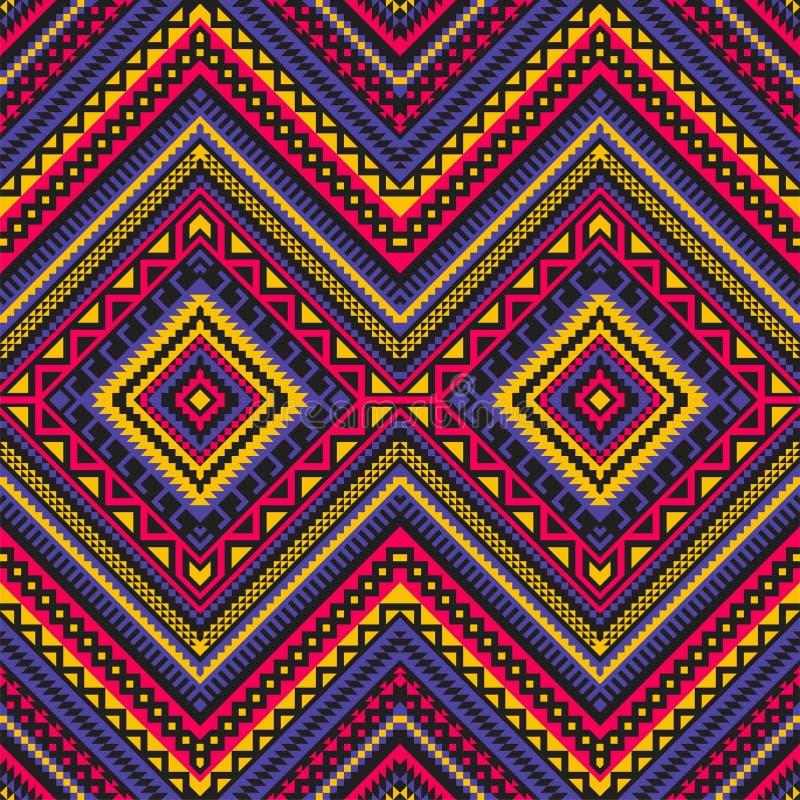 Nahtloses ethnisches Muster mit geometrischer Verzierung stock abbildung