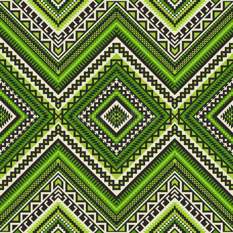 Nahtloses ethnisches Muster mit geometrischer Verzierung lizenzfreie abbildung