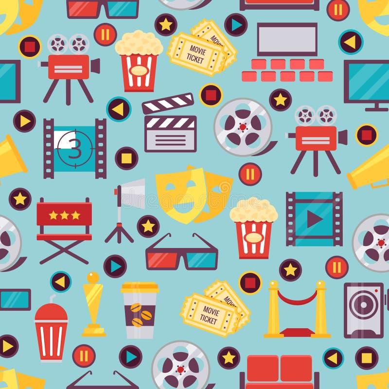 Nahtloses Film-und Kino-Hintergrund-Design lizenzfreie abbildung