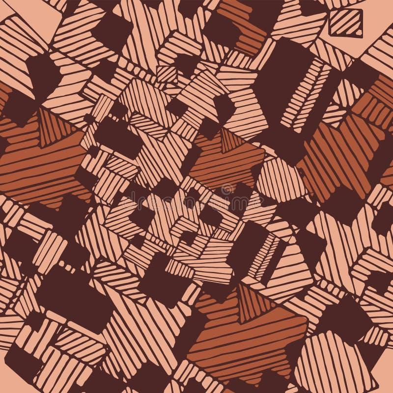 Nahtloses flaches abstraktes geometrisches Muster des Vektors lizenzfreie abbildung