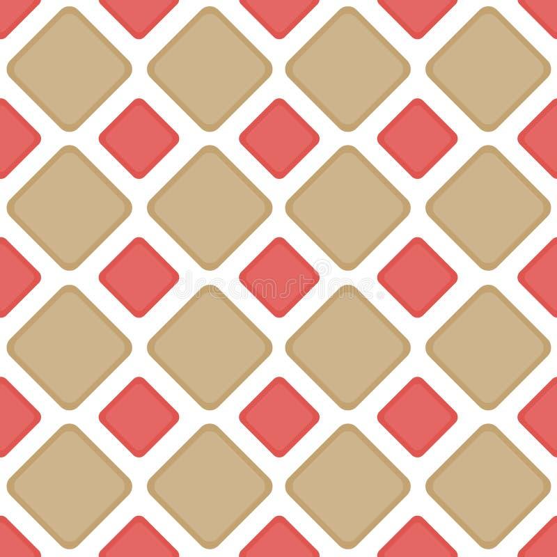 Nahtloses Fliesenziegelsteindiamanten backgound Muster stock abbildung