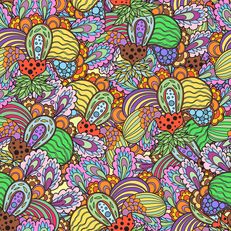 Nahtloses Frucht-Muster stockfotografie